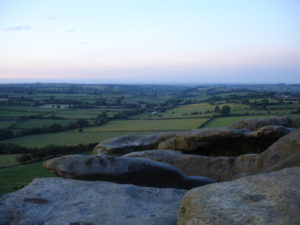 June sunset from Almscliffe crag, West Yorkshire