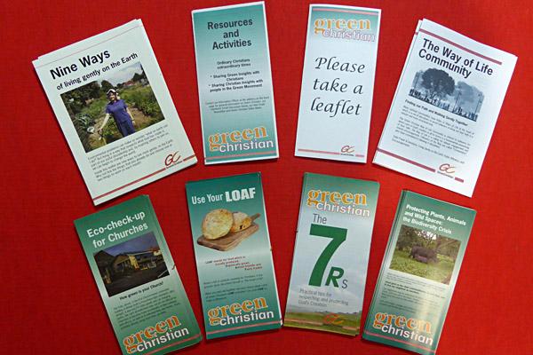Green Christian leaflets